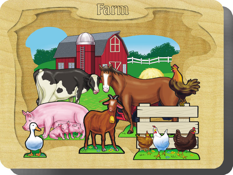 Farm Farm Animals Wooden