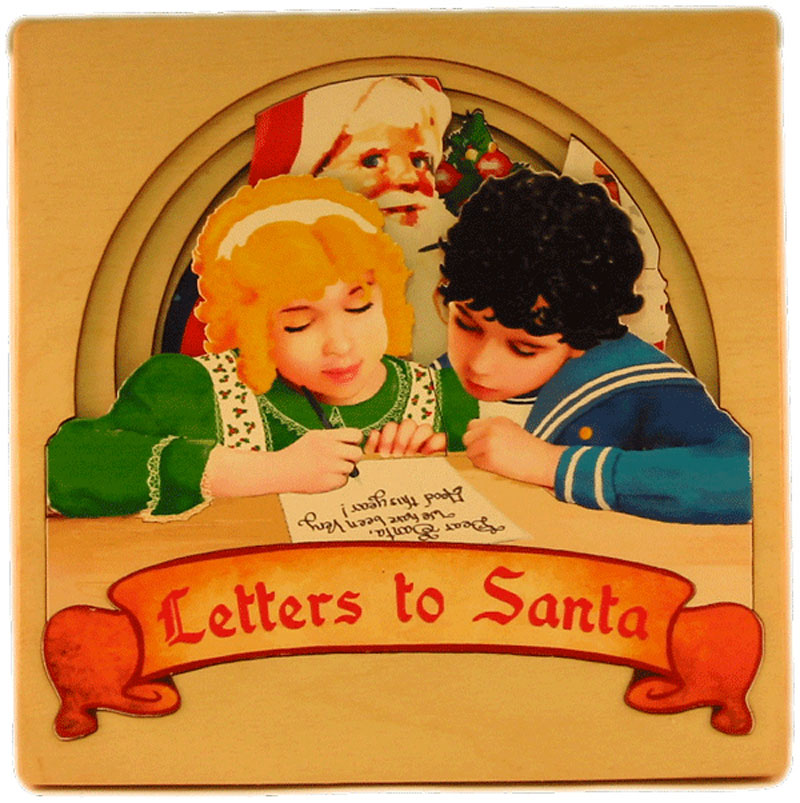 Letters to Santa - 4 Layer Santa Wooden