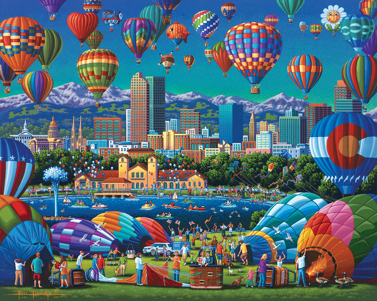 Above Denver Balloons Jigsaw Puzzle