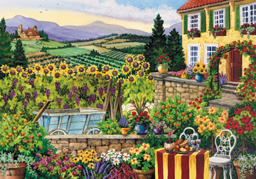 Afternoon in Tuscany Garden Jigsaw Puzzle