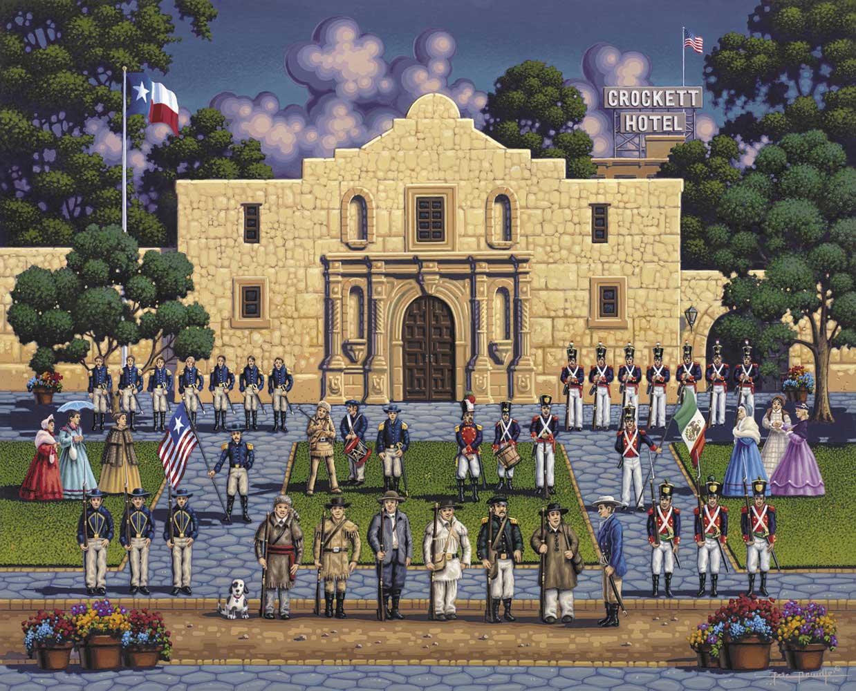 The Alamo Landmarks / Monuments Jigsaw Puzzle