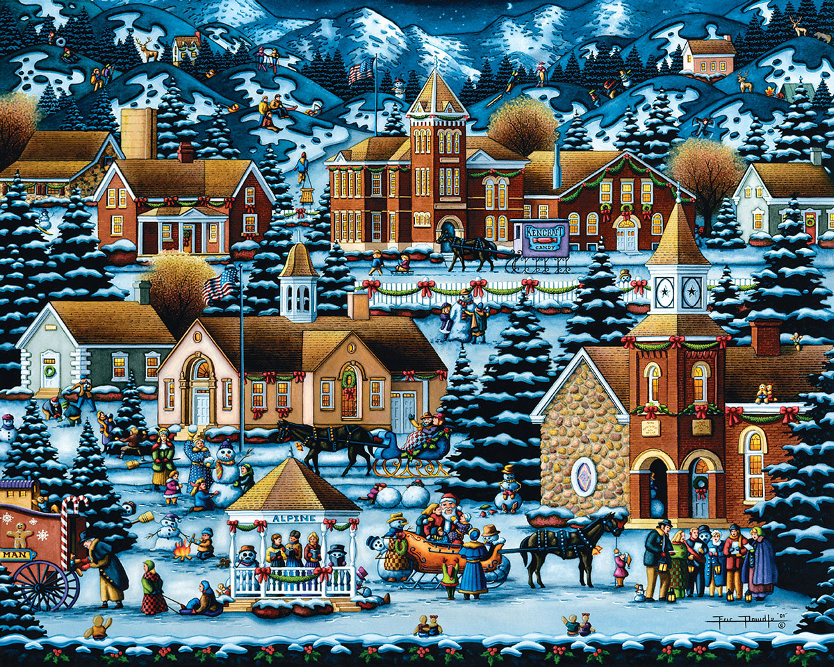 Alpine Christmas Christmas Jigsaw Puzzle