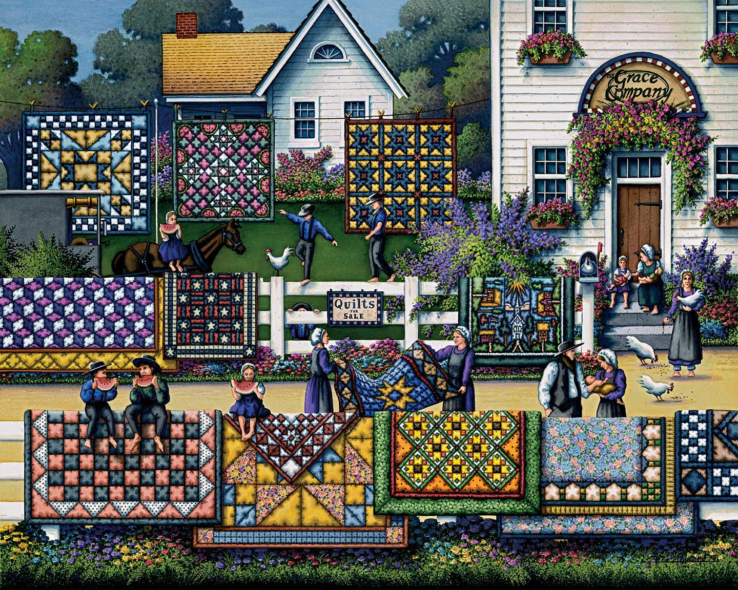 Amish Quilts Crafts & Textile Arts Jigsaw Puzzle