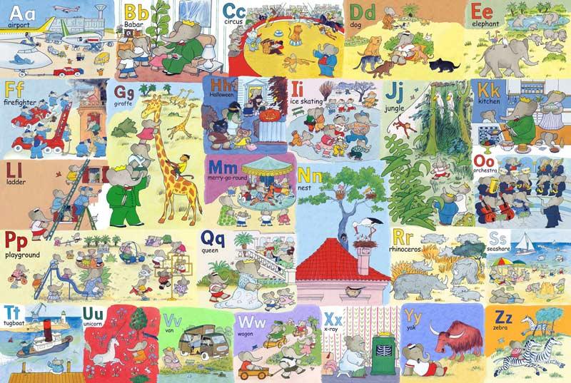 Babar's Alphabet - Floor Puzzle Cartoons Children's Puzzles