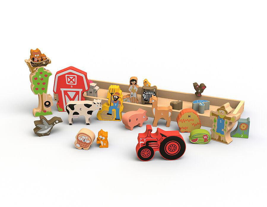 The Farm A to Z Puzzle Farm Jigsaw Puzzle