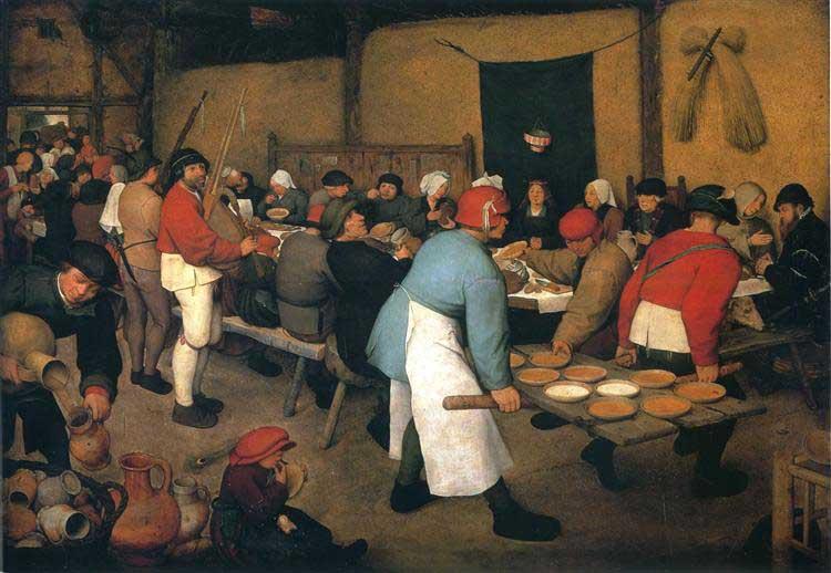 Peasant Wedding by Pieter Bruegel The Elder Fine Art