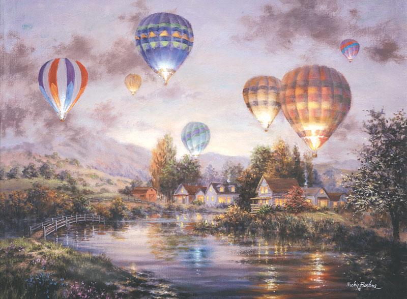 Balloon Glow Balloons Jigsaw Puzzle
