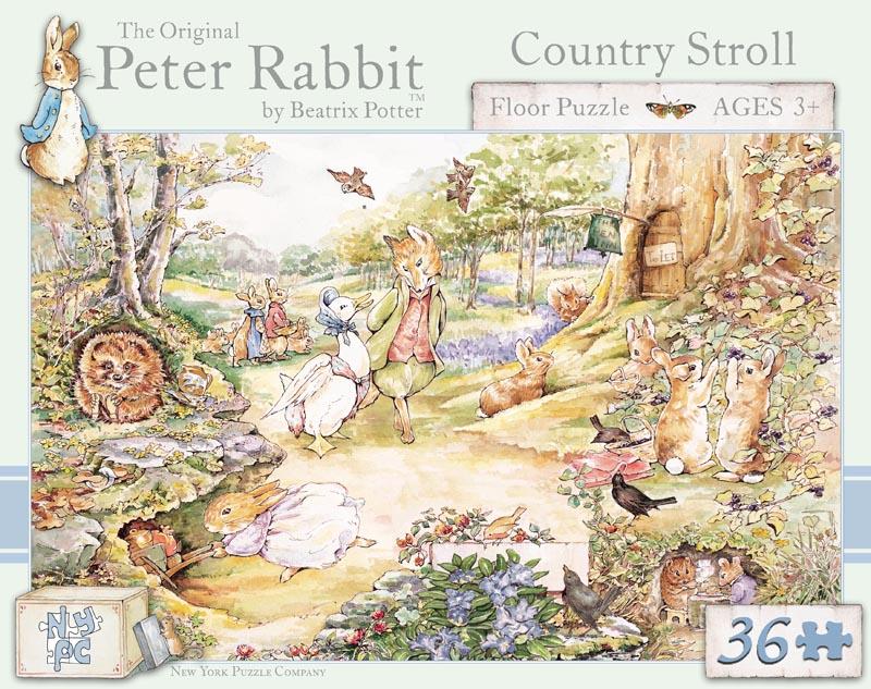 Peter Rabbit, Country Stroll - Floor Cartoons Children's Puzzles