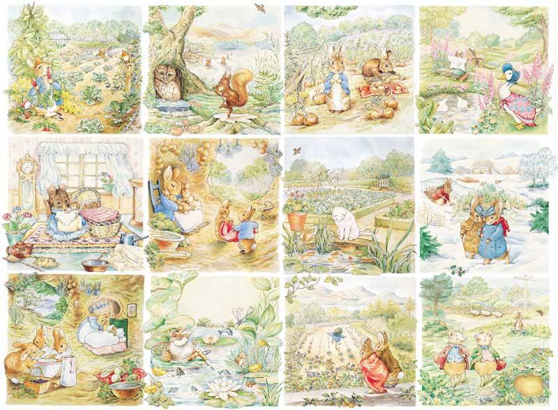 Beatrix Potter - Peter Rabbit, Character Vignettes Cartoons Children's Puzzles