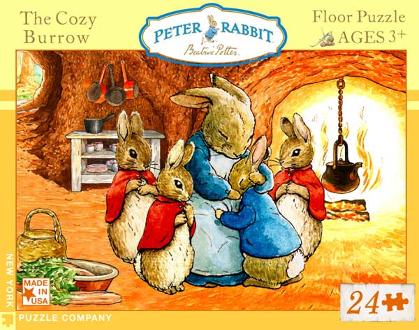 Peter Rabbit, The Cozy Burrow - Floor Cartoons Children's Puzzles