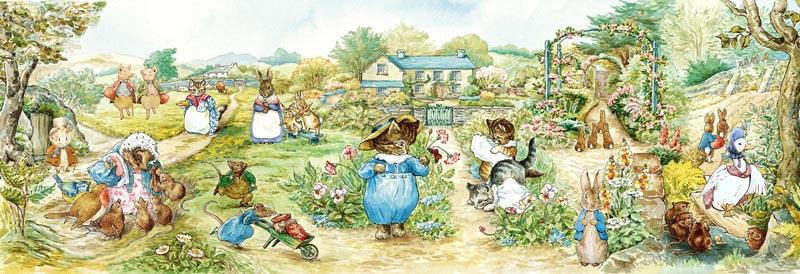 Tom Kitten's Garden (Peter Rabbit) Cartoons Jigsaw Puzzle