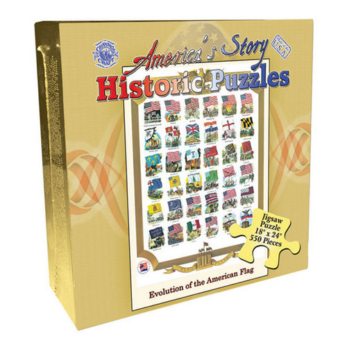 Evolution of the U.S. Flag (America's Story) Patriotic Jigsaw Puzzle