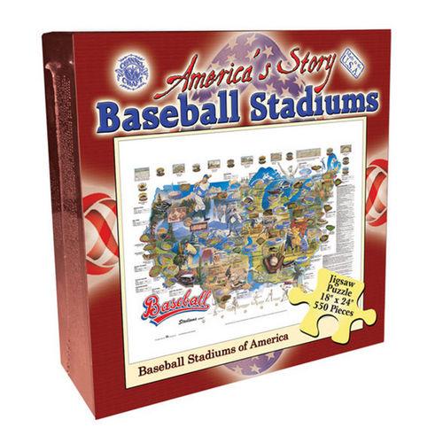 Baseball Stadiums of America (America's Story) Patriotic Jigsaw Puzzle