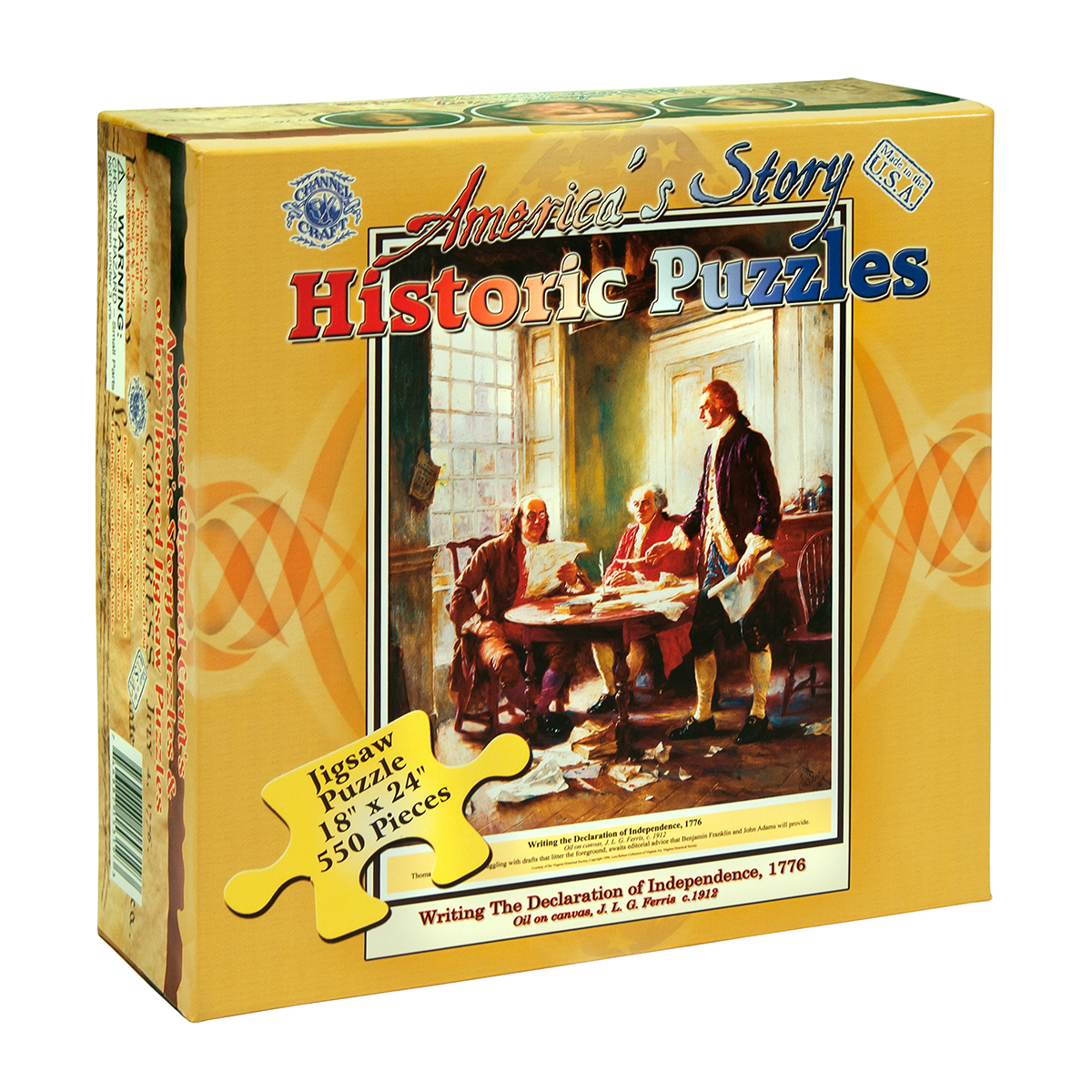Writing the Declaration of Independence Patriotic Jigsaw Puzzle