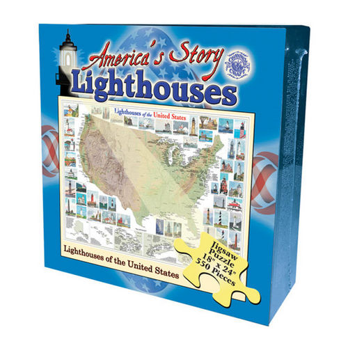 Lighthouses of the United States (America's Story) Lighthouses Jigsaw Puzzle