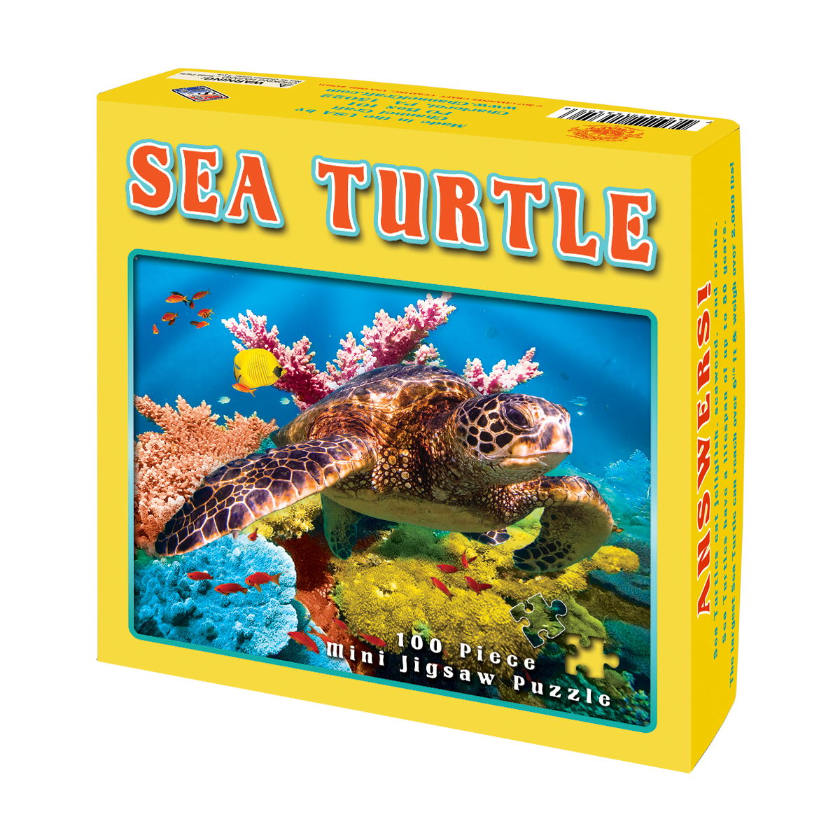 Sea Turtle Under The Sea Jigsaw Puzzle
