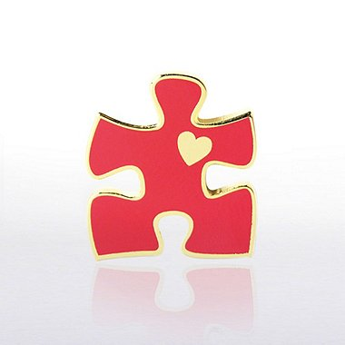Lapel Pin - Essential Piece with Heart Novelty