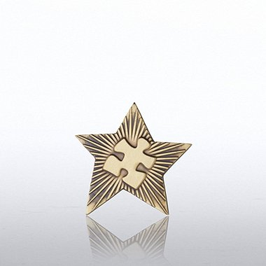 Lapel Pin - Gold Star Essential Piece Novelty