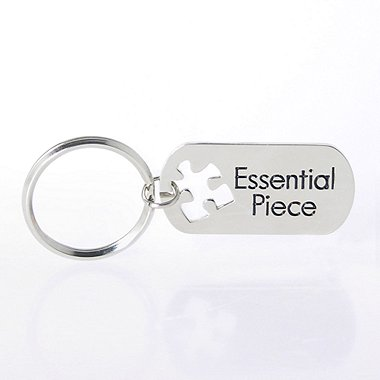 Nickel-Finish Key Chain - Essential Piece Novelty