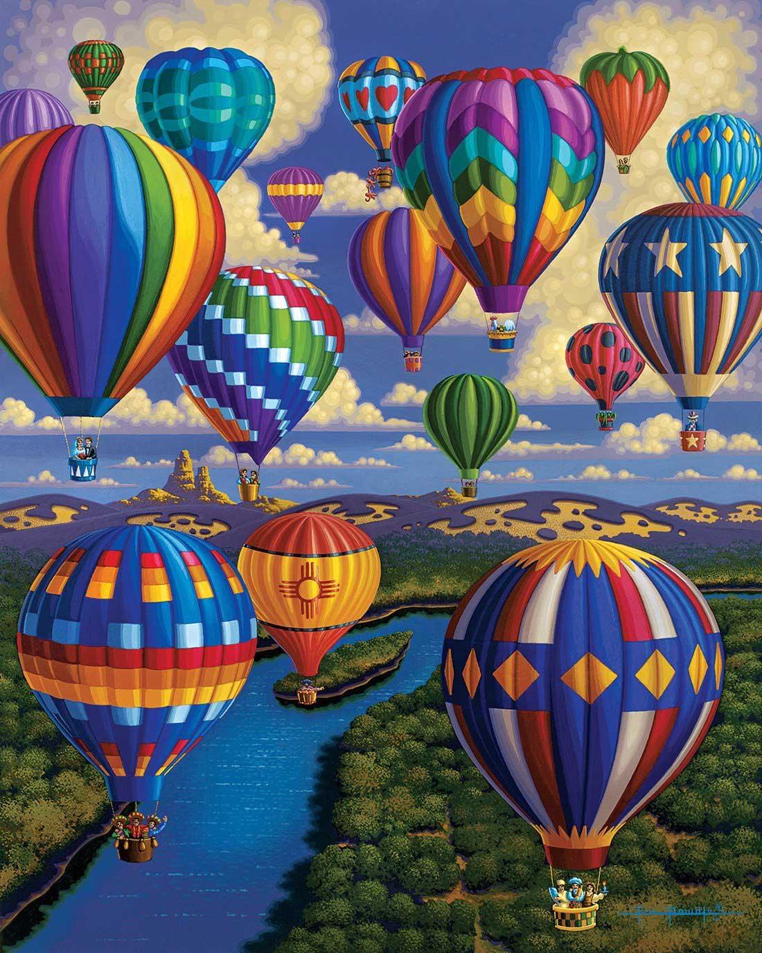 Balloon Festival Summer Jigsaw Puzzle