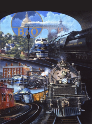B&O Trains Jigsaw Puzzle