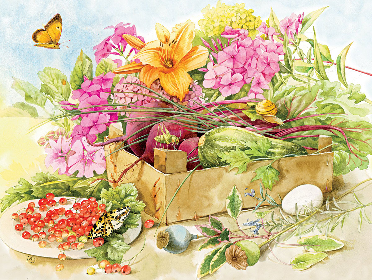 Summer Flowers Butterflies and Insects Jigsaw Puzzle