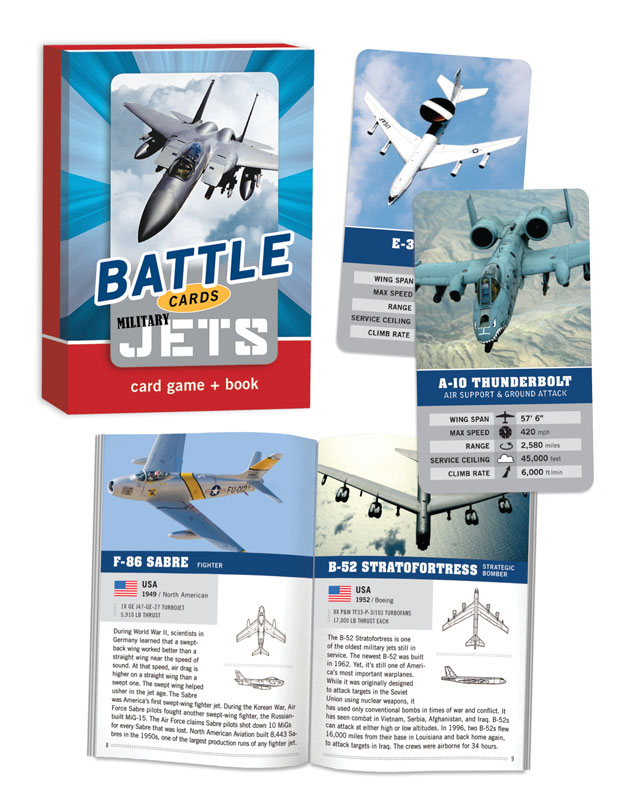 Battle Cards: Military Jets Trivia Games Card Game