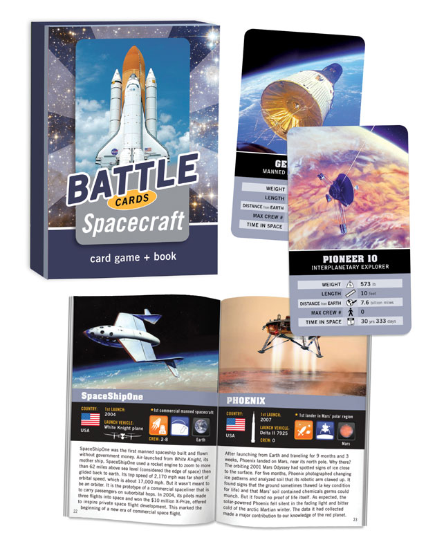 Battle Cards: Spacecraft Trivia Games Card Game