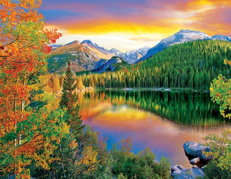 Bear Lake, Estes Park Fall Jigsaw Puzzle