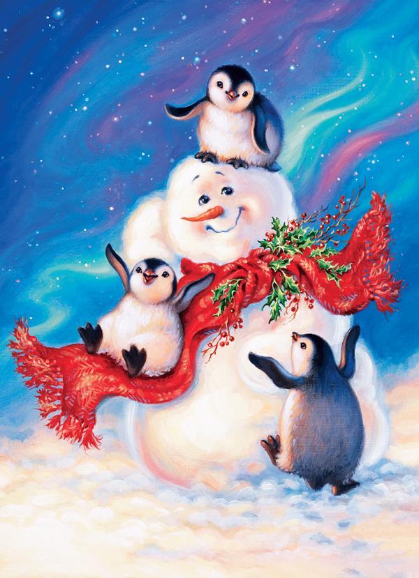 Blizzard Buddies Snowman Jigsaw Puzzle