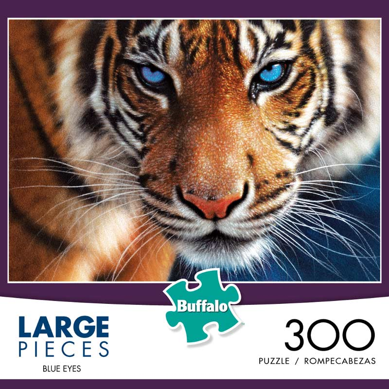 Large Piece - Blue Eyes (300pc) Tigers Jigsaw Puzzle