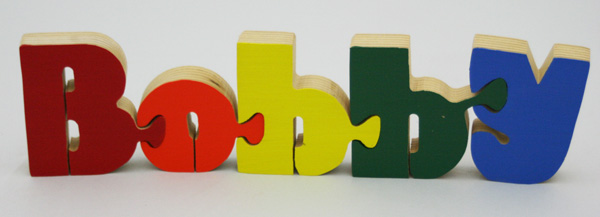 Bobby BB Wooden Name Puzzle