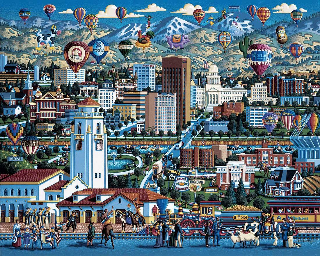 Boise Trains Jigsaw Puzzle