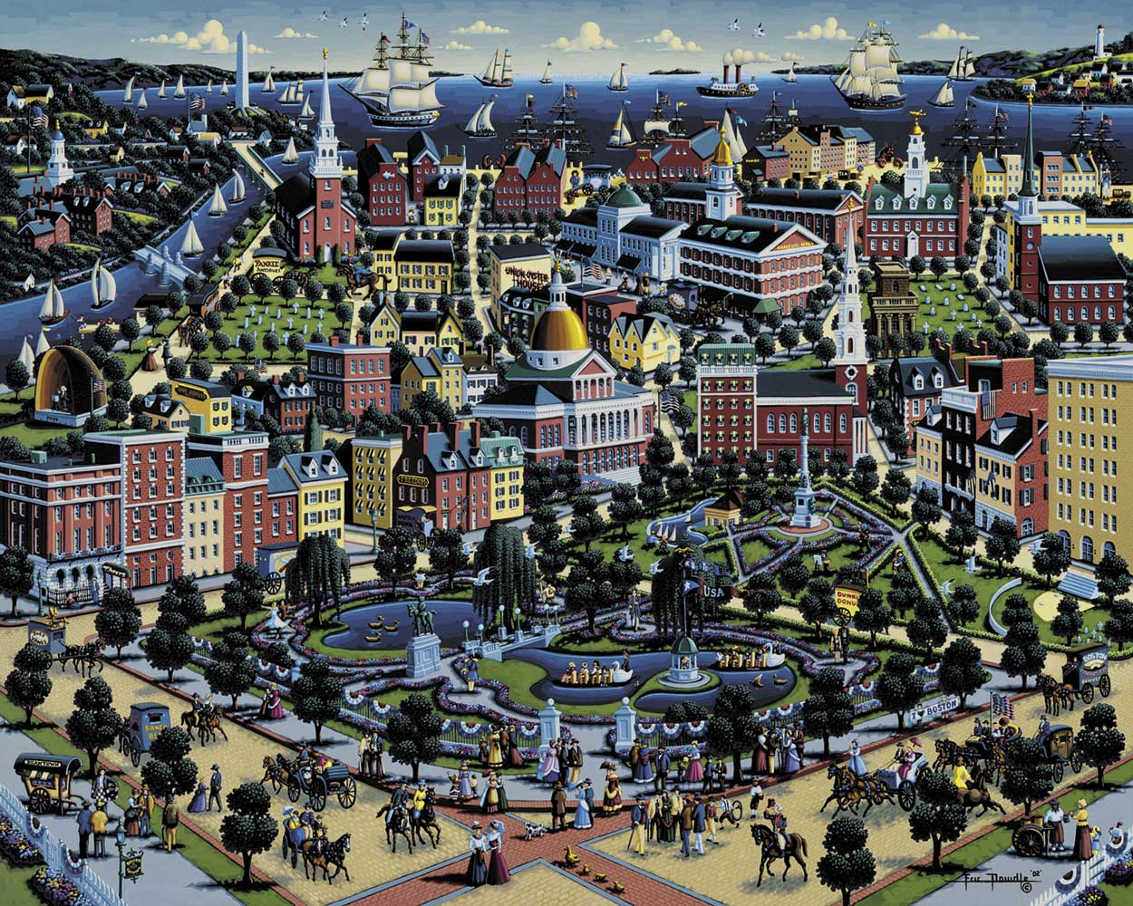 Boston Commons United States Jigsaw Puzzle