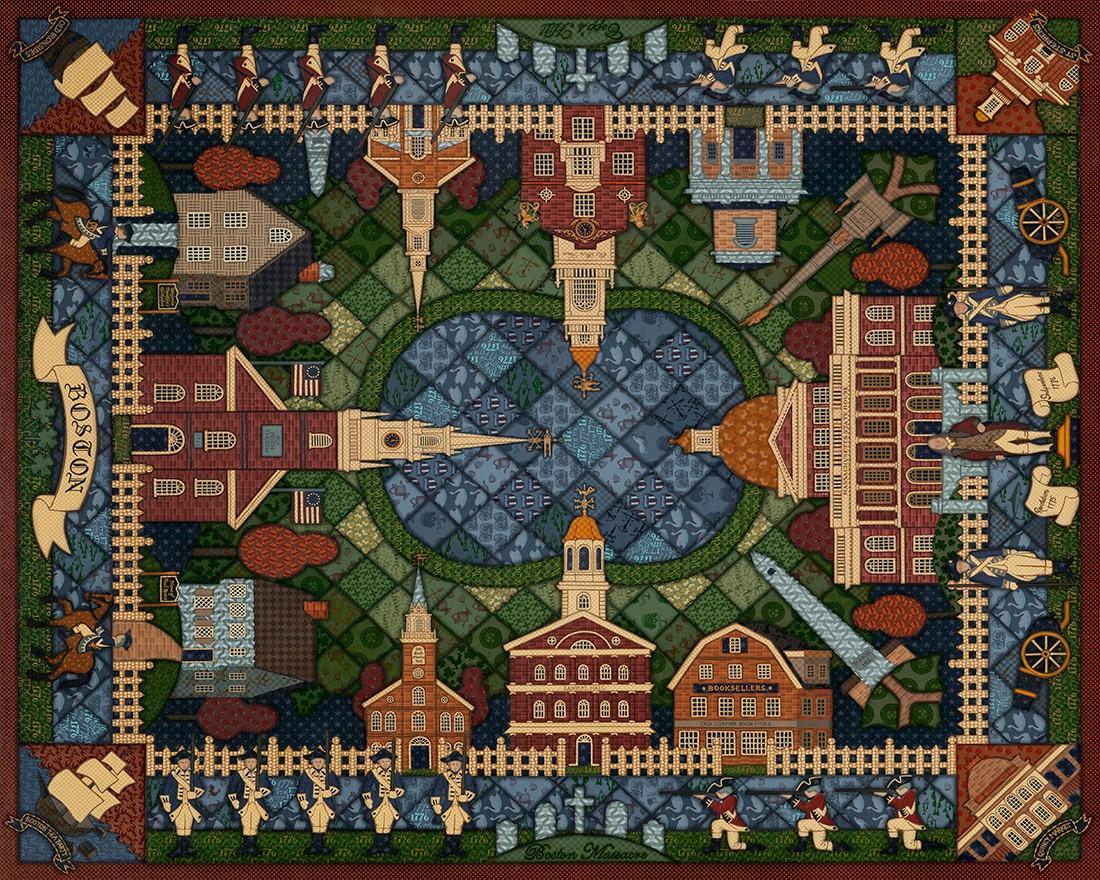 Boston Quilt Crafts & Textile Arts Jigsaw Puzzle