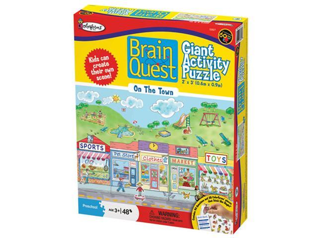 Brain Quest Floor Puzzle - On the Town Cartoons Floor Puzzle