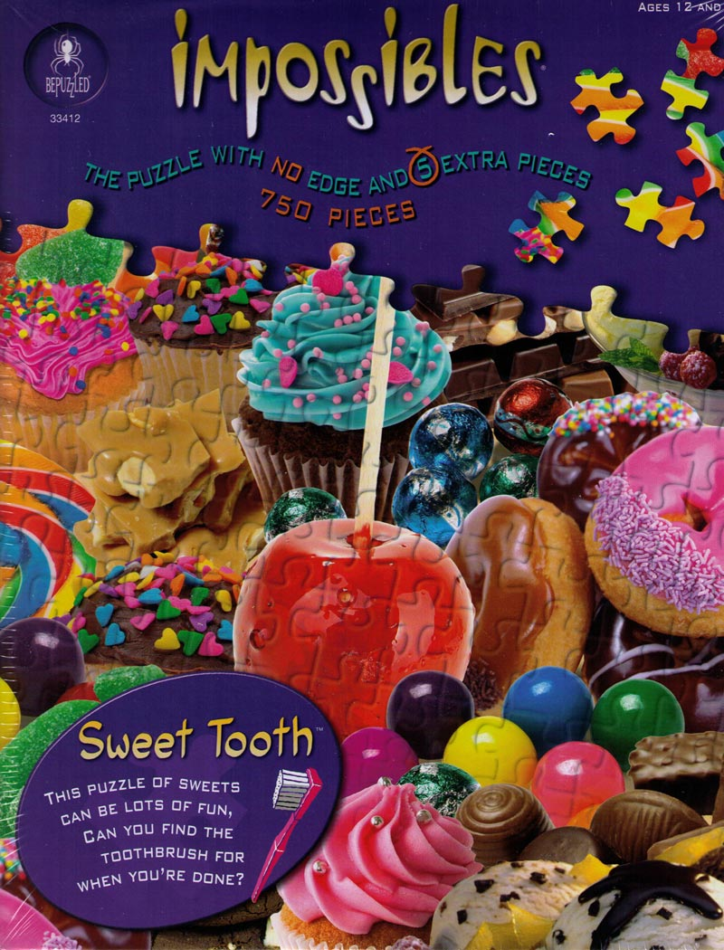 Impossibles Puzzles - Sweet Tooth Food and Drink Hidden Images