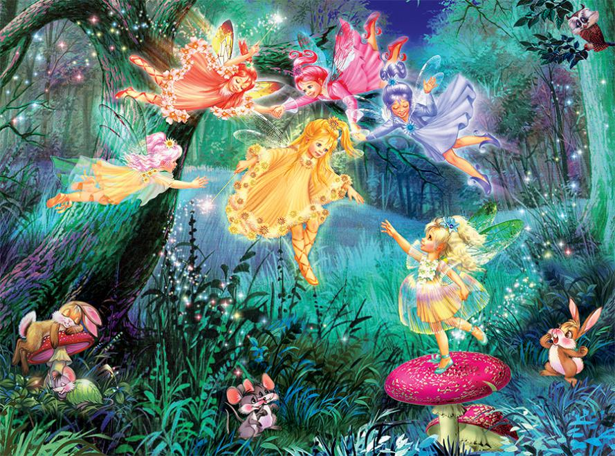 Fairy Ring of Six (Forest Fairies) Fairies Jigsaw Puzzle