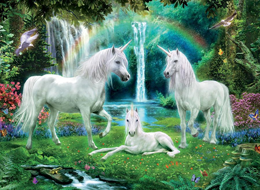 Rainbow Unicorn Family (Unicorns) Unicorns Jigsaw Puzzle