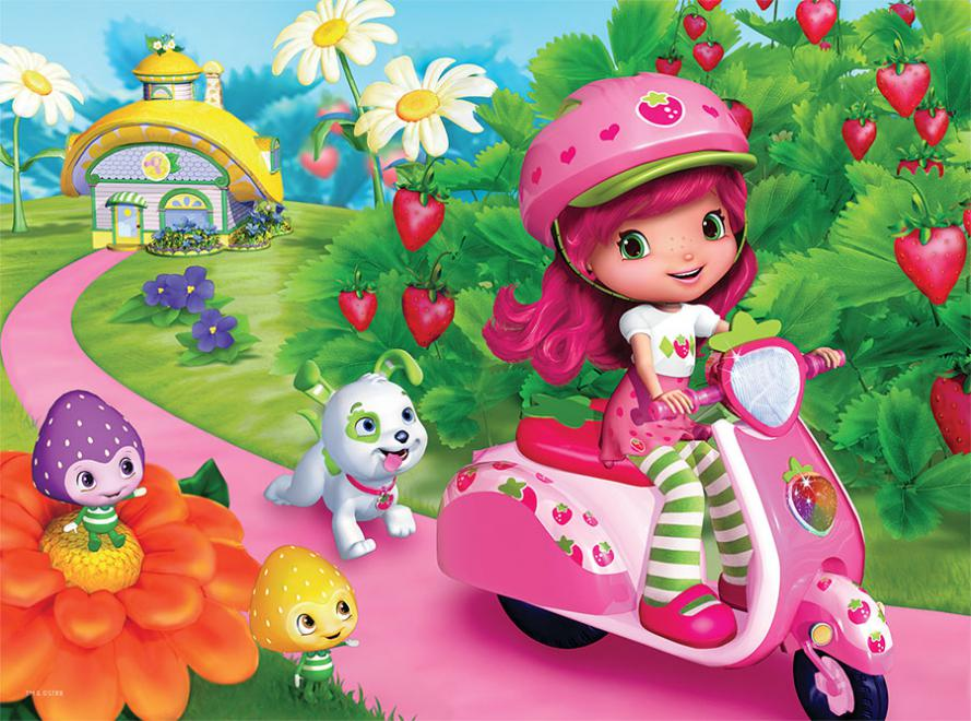 Strawberry Shortcake On Her Vespa 60 Pieces Ceaco Puzzle Warehouse
