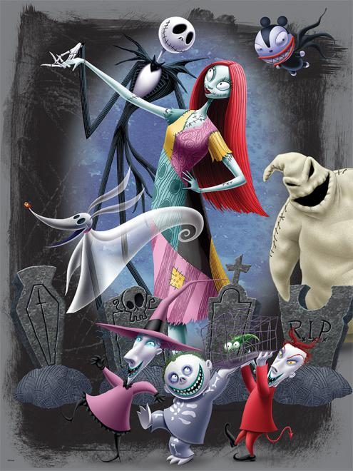 halloweentown party nightmare before christmas disney jigsaw puzzle - A Nightmare Before Christmas
