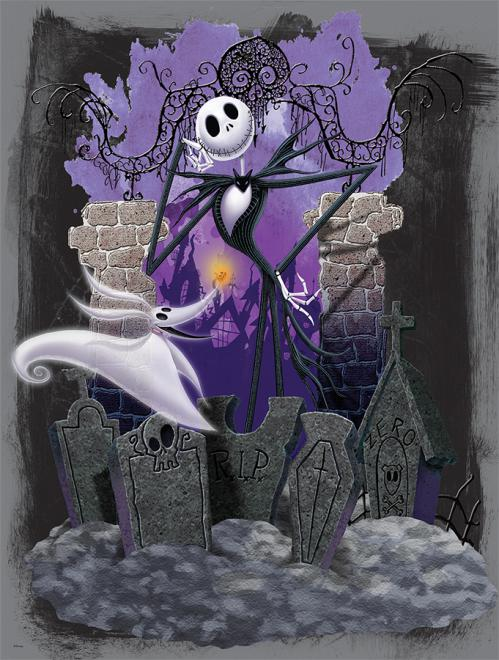 Jack and zero nightmare before christmas jigsaw puzzle jack and zero nightmare before christmas movies books publicscrutiny Images