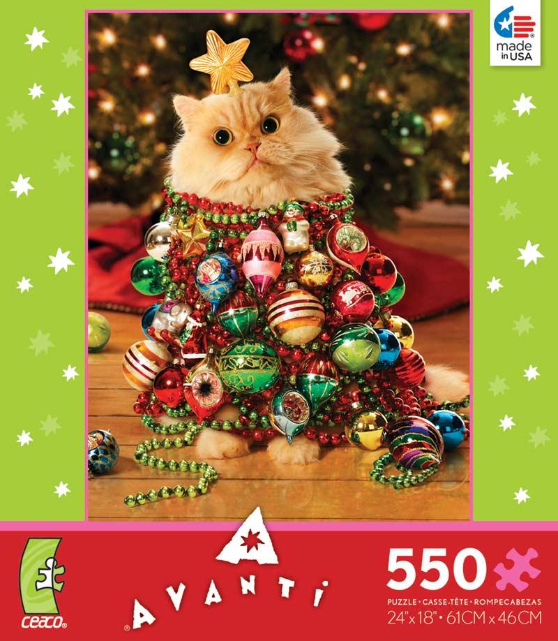 Holiday Avanti   Christmas Tree Kitten Cats Jigsaw Puzzle