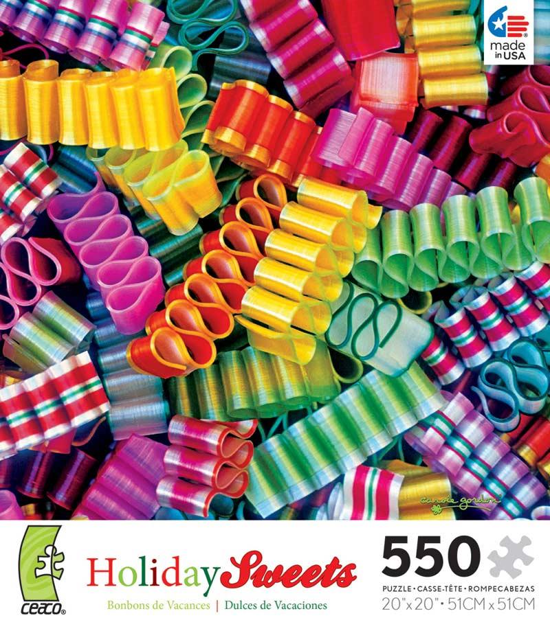 holiday sweets ribbon candy christmas jigsaw puzzle - Christmas Ribbon Candy