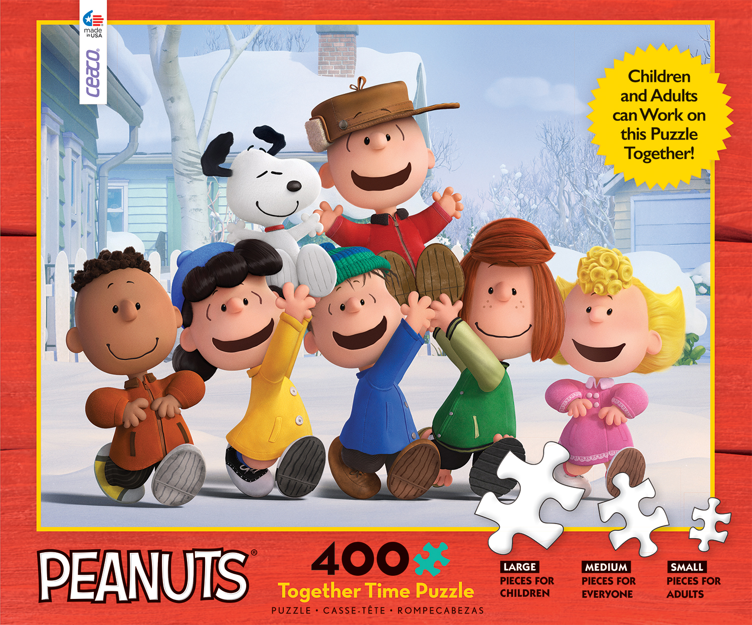 Peanuts Together Time Movies Books TV Jigsaw Puzzle