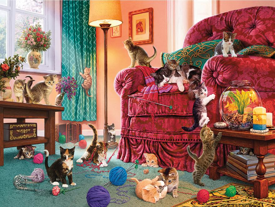 Naughty Kittens (Paws Gone Wild) Cats Jigsaw Puzzle