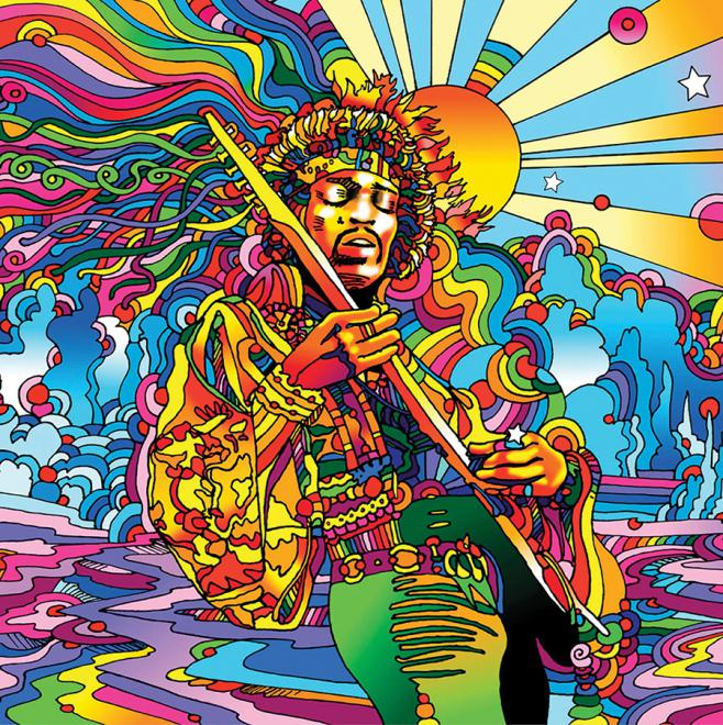 Jimi hendrix pop art jigsaw puzzle for Trippy house music