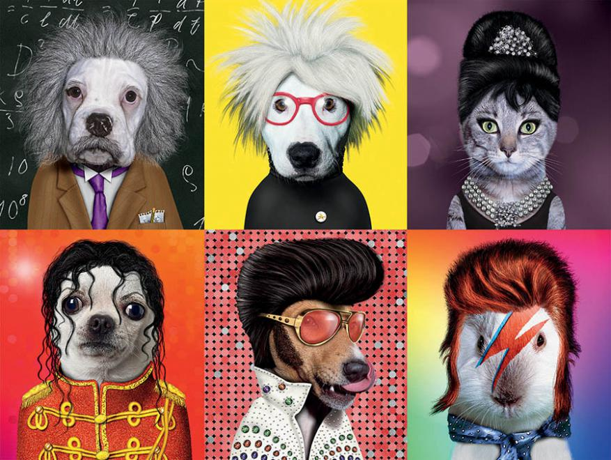 Famous Icons (Pets Rock) Dogs Jigsaw Puzzle