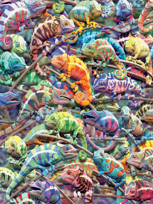 Chameleons (Colors) Animals Jigsaw Puzzle