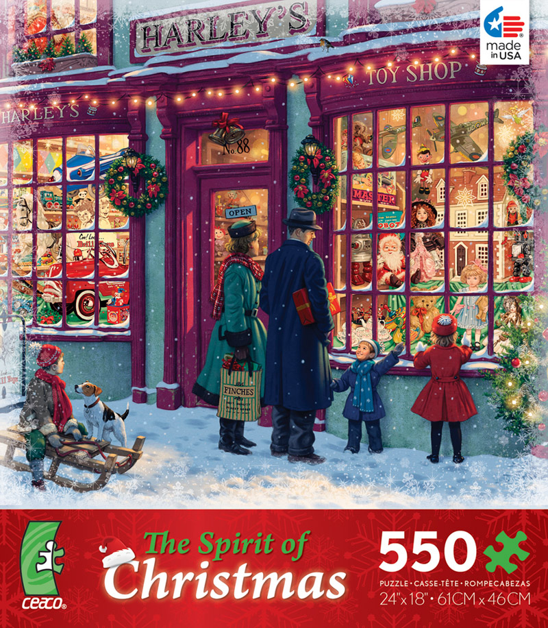 8e660921bff2 The Spirit of Christmas - Harley's Toy Shop Jigsaw Puzzle |  PuzzleWarehouse.com